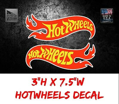 "2 Hot Wheels Racing Nascar USDM Car Bumper Window Notebook Sticker Decal 3""X7.5"""