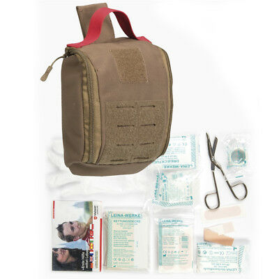 Mil-Tec IFAK Individual First Aid Kit Military MOLLE Tactical 25-Piece Coyote