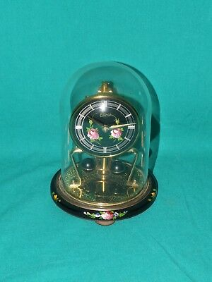 Vintage German Made Elinco(?) Torsion Pendulum Dome Clock. (Hospiscare)