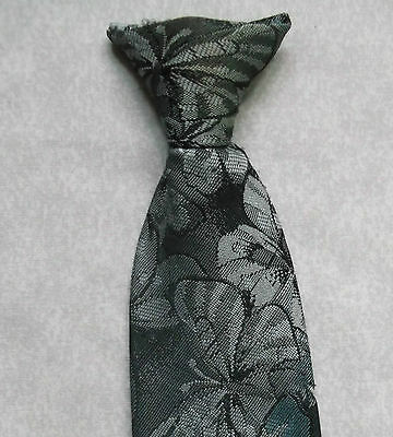 Vintage Tie MENS Clip On Necktie Retro SECURITY OFFICE BUTTERFLIES JOHN PIERRE