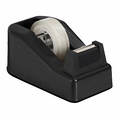 Black Adhesive Tape Dispenser with 2 Rolls