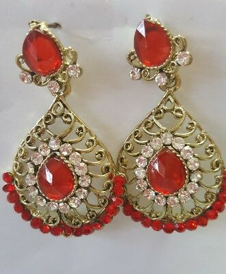 Indian Earrings Online Jewellery Gold Plated Bollywood Pearl Jhumka Jhumki