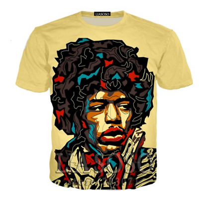 Performer Jimi 3D print women's/men's Short Sleeve T-Shirt Casual Tops S-5XL Y6