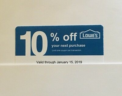 25-Lowe's Blue Card 10% Off For Home Depot + Other Comp Not Lowe's  Exp 01/15/19