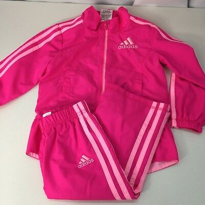 Adidas Tracksuit Girls 2T Pink 2 Piece Set Excellent Condition