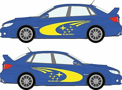 Subaru Impreza WRC rally vinyl sticker kit. FULL SHADOW SET! Decal/Graphic