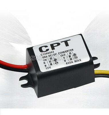 DC 12V To 6V 3A Converter Module Step Down Power Output Adapter