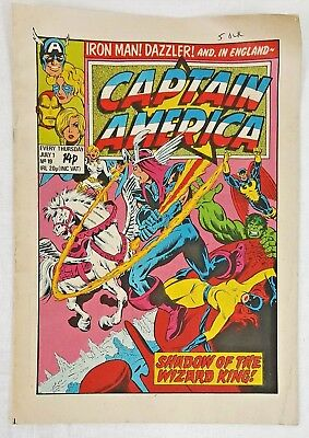 No: 19  Captain America Comic - July 1 1981