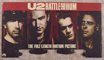 U2 1989 Display Piece Rattle And Hum Two-Sided Bono The Edge Poster