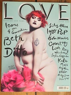 Love Magazine Beth Ditto Spring Summer 2009 Issue One Excellent Condition