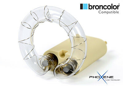 Broncolor compatible 3200J flash tube 6000K (clear) Extra-Long Life