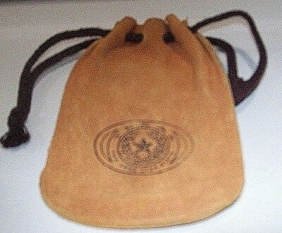 Suede Drawstring Coin Pouch