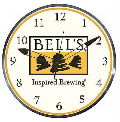 Bell's Beer Inspired Brewing Retro Style Pam Advertising Clock LED Lighted
