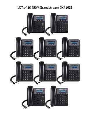 LOT of 10 New Grandstream GXP1625 2-Line HD SIP IP Phone PoE - FREE SHIPPING
