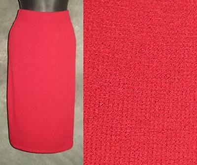 Beautiful St John collection knit red skirt size 10 12