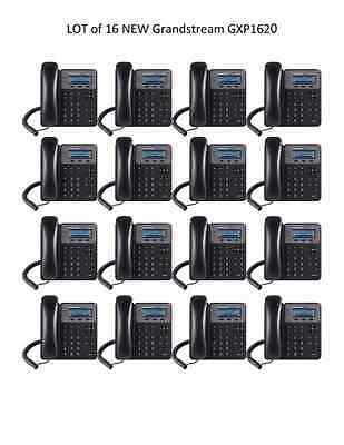 LOT of  16 New Grandstream GXP1620 2-Line HD - 2 SIP - IP Phone - FREE SHIPPING