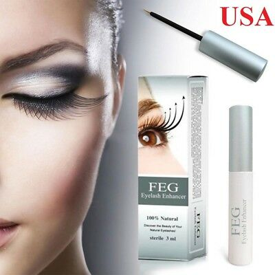 FEG Eyelash Rapid Growth Enhancing Serum Fast Thicker Longer Lash USA Ship 3ml