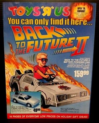 Toys R Us 1989 Sales Catalog DeLorean Car Nintendo Donald Trump  Michael Jordan
