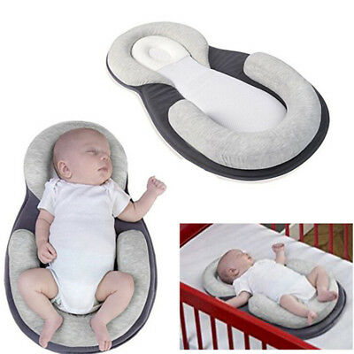 Baby Pillow Sleep Cushion Newborn Crib Portable Nest Bed Mattress Breathable UK
