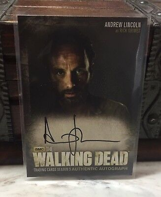 Andrew Lincoln Rick Grimes 2013 Cryptozoic The Walking Dead autograph card A1 S3