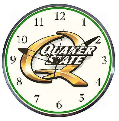"""Quaker State Oil 15"""" Retro Style Pam Advertising Clock LED Backlighted"""