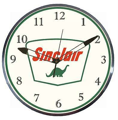 "Sinclair Dino Gas Oil 15"" Retro Style Pam Advertising Clock LED Backlighted"