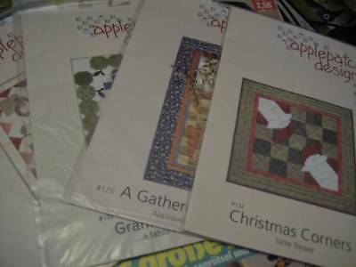 Applepatch Quilt PATTERN Your Choice- Christmas Corners, A Gathering Basket, Gra