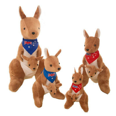 Plush Kangaroo Toy Stuffed Animals Doll Kids Lovely Simulation Soft Girl Gift