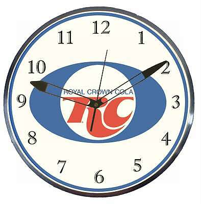 """Royal Crown Cola RC 15"""" Retro Style Pam Advertising Clock LED Back lighted"""