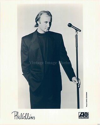 1992 Press Photo Phil Collins English Drummer Songwriter Singer Producer 8X10