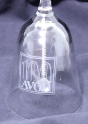Avon 100 Year Aniversary Clear Glass Bell President's Club Gift