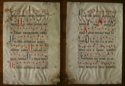 Antiphonar, Antiphonary, (Gloria, Sanctus), Lombarden In Rot Und Blau, ~1500