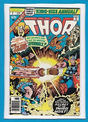 """Mighty Thor King-Sized Annual #7_1978_Vg_Eternals_""""secret Of The Third Host""""!"""