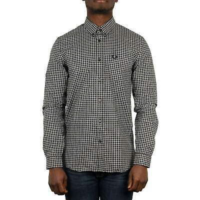 Fred Perry Three Colour Gingham Shirt - Black