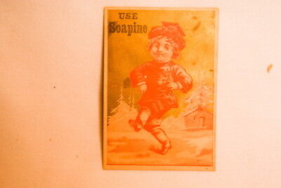 1800S Soapine Kendall Soap Rhode Island Advertisement Boy Dancing
