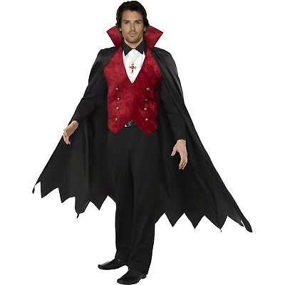 Halloween Scary Vampire Count Dracula Horror Adults Mens Fancy Dress Costume
