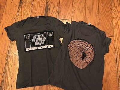 Lot Of 2 Womens The National Band T Shirts Tops Apartment Story L Large