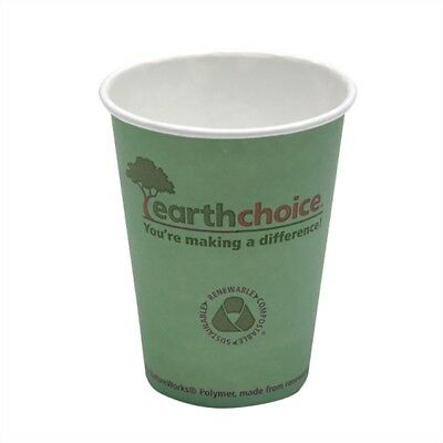 NEW 100 - 12oz Earth Choice Disposable Eco-FriendlyPaper Hot Coffee Cups + Lids