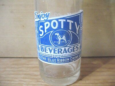 Spotty Beverages Blue White Acl Soda Bottle With Dog