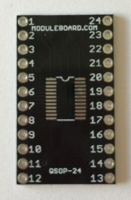 Lot of 20 QSOP-24 Breakout Board Adapter for Prototyping