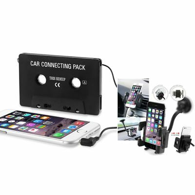 In Car Music Cassette+Holder for Samsung Galaxy S4/S5/S6/S7/S8/S8+/S9/S9 Plus
