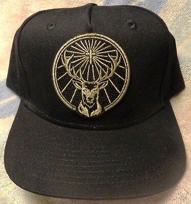 Jagermeister - Baseball Style Hat - Black...Large Deer Head Logo on Front...NEW