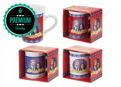 Pack Of 2-2018 Royal Wedding Slim Mugs - Harry & Megan Souvenirs - Family...