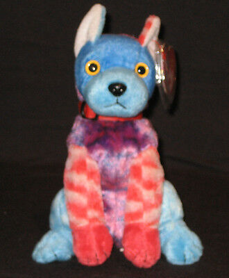 88a8d051d32 TY HODGE-PODGE THE DOG BEANIE BABY - MINT with MINT TAGS - RED FRONT ...