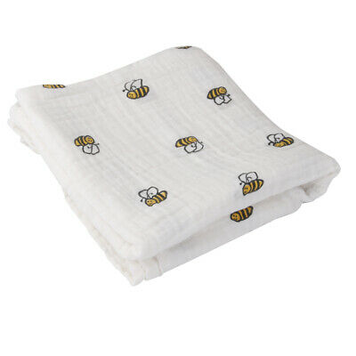 Muslin Cotton Newborn Infant Swaddle Baby Blanket Parisarc Wrap Towel Bee