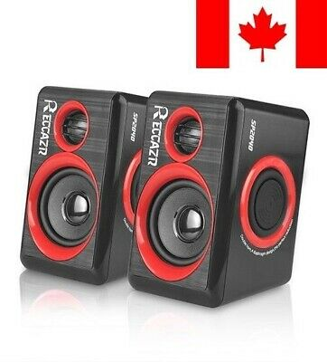 Computer Speakers With Surround Subwoofer Heavy Bass USB Wired Powered Multim...