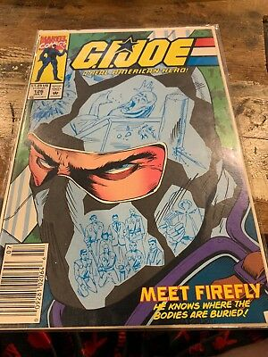 G.I. JOE A REAL AMERICAN HERO #126 (Marvel Comics 1992) FIREFLY (VF-) RARE