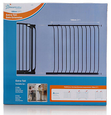 DREAMBABY TALL Safety Gate Extension 100CM for TALL Gate 1m high * Black or Whit