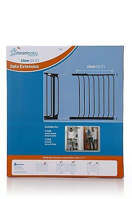 DREAMBABY STANDARD SAFETY GATE EXTENSION 63CM ** 75cm high * Black or White