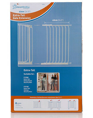 DREAMBABY TALL Safety Gate Extension 63CM for TALL Gate 1m high * Black or White